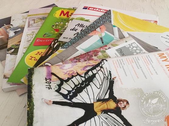 Kataloge und Prospekte von der Creativeworld und Paperworld in Frankfurt. Die neusten Trends aus der Kreativbranche werden hier vorgestellt