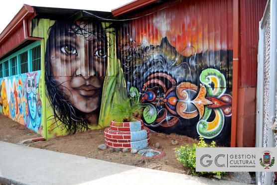 Mural realizado como parte de las actividades de G.A.P. - Candelaria. (26/4/15)