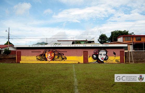 Proyecto Arte Urbano Palmares / Tema: circo