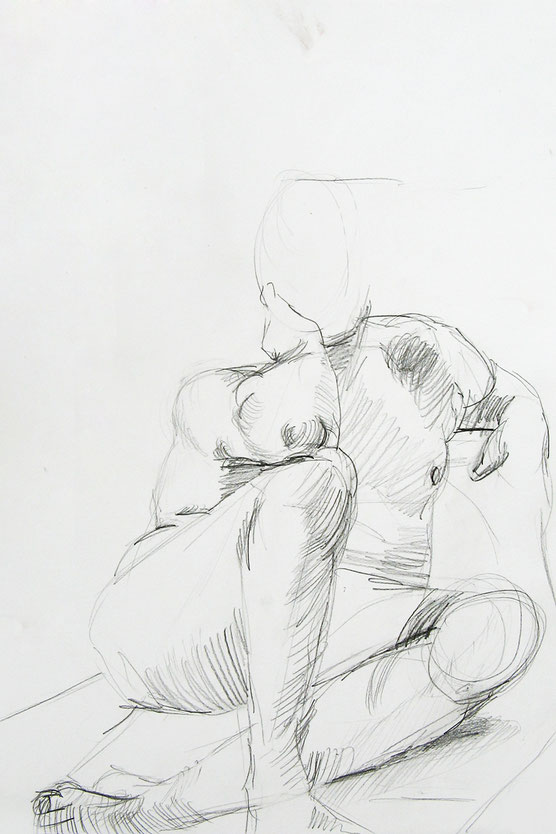 'Akt II' // Deike Heeren // Buntstift, ca 50 x 70 cm
