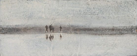 'WADLOPERS' BRONS GEPATINEERD (32,5x13,5 cm)                         fotografie Bart Dertien