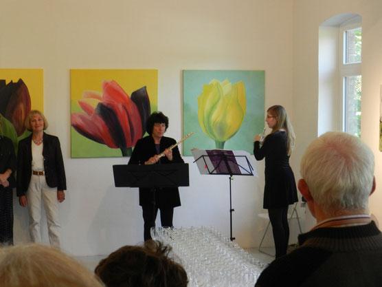 """Vernissage zu """"Trilogie zu Heinrich Vogeler"""" in der Galerie """"Altes Rathaus"""" Worpswede, 2012"""