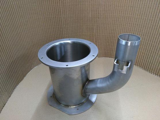 Trichter Blechverarbeitung lasergeschnitten aus Rostfreiem Stahl 1.4301