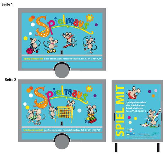 Gestaltung der fröhlichen Spielehaus Anhänger