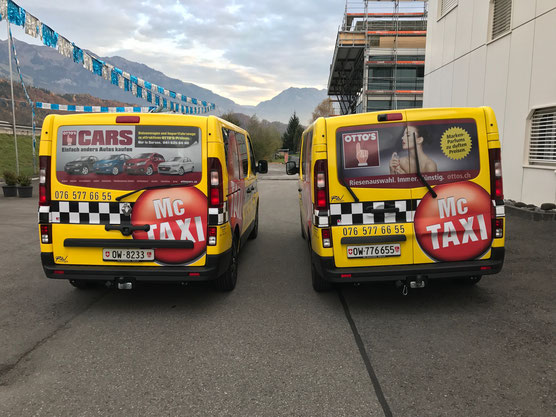 Taxiwerbung bei McTAXI