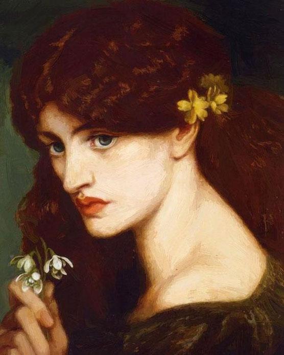 Dante Gabriele Rossetti, Blanzifiore (Bucaneve), olio su tela, 1873