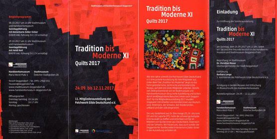 Flyer ( Ausschnitt)  zur Ausstellung : Tradition bis Moderne XI in den Deggendorfer Museen