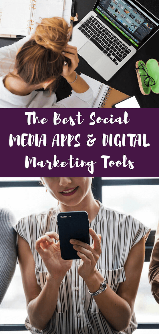 Overwhelmed by the options for digital marketing strategies in your business? Use the best social media scheduling apps and tools to get posts seen and to manage your stress. #entrepreneur #digitalmarketing #socialmedia #smallbusiness #socialmediaapps