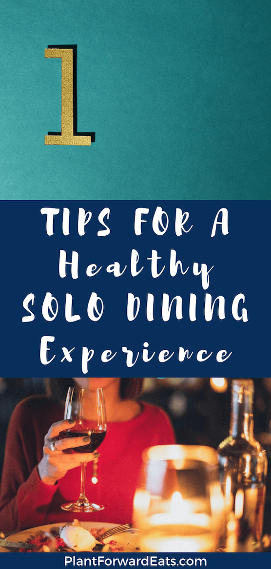 Eating alone has a bad reputation for being unhealthy, but you can create a healthier solo dining experience. Learn how to turn the tables on a table for one! #amyseatlist #diningsolo #eatingalone #partyofone #howtoeathealthy
