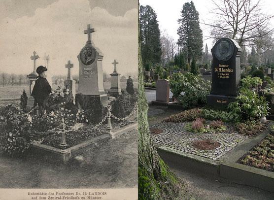 Das Grab damals und heute.