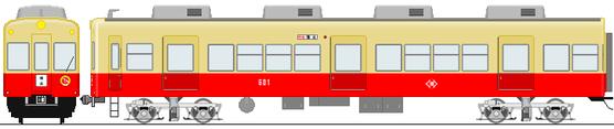 旧塗装時代の600形