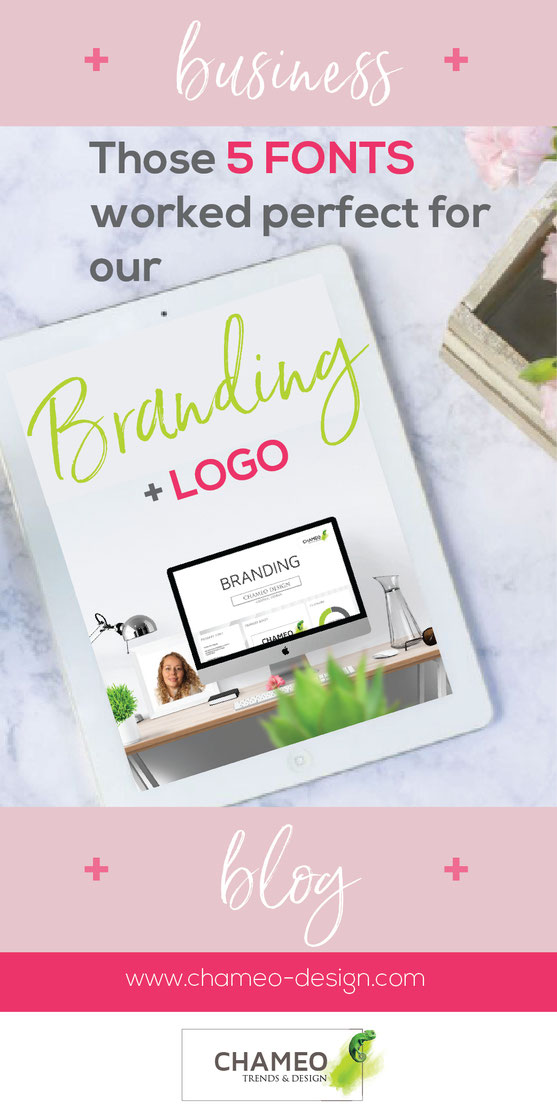 Those fonts worked perfect for the branding + logo of many of our clients business or blog. Chameo-design