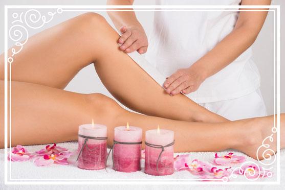 Haarentfernung, Warmwachs, Waxing, Epilation Beine, Kosmetikstudio Münchenbuchsee, Kosmetikerin