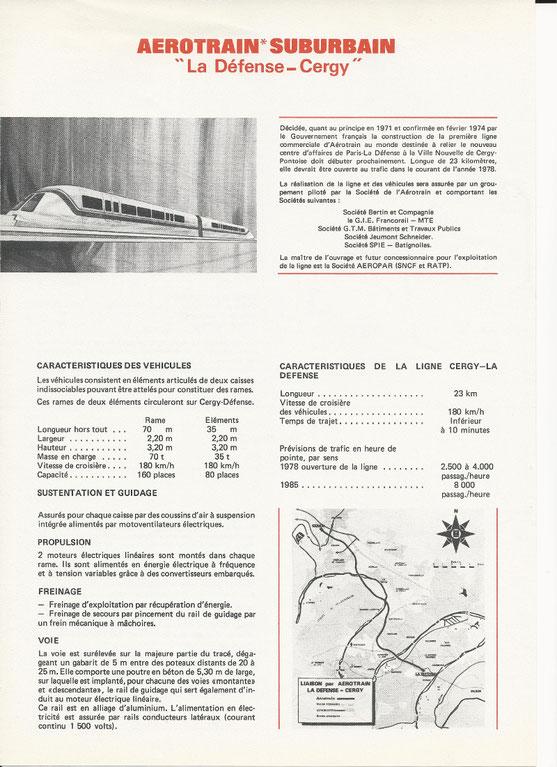 Le programme AEROTRAIN