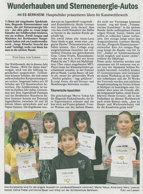 Quelle: Esslinger Zeitung April 2009
