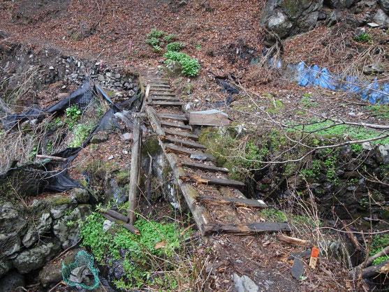 傾いた木製橋1