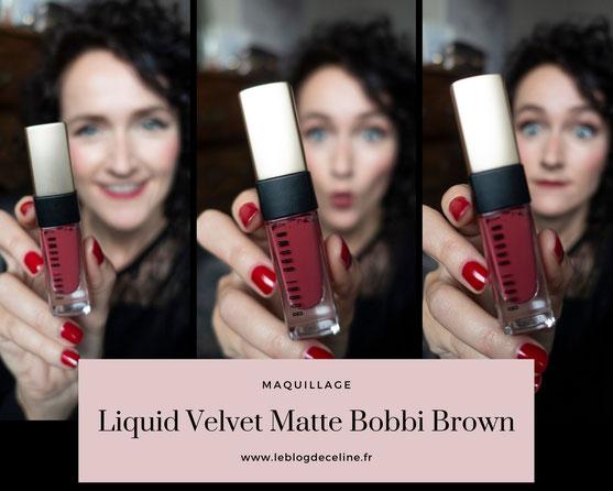 rouge liquide matte bobbi brown avis