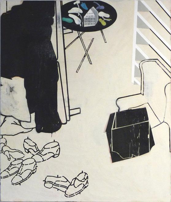"""Grosse Idylle II"", 2009/10, 200 x 160 cm, Öl auf Leinen"