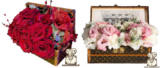 Louis Vuitton flower trunk pink 1910 roseate