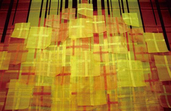 戦火の記憶 2000 年  Silk Natural dye  W235×H260