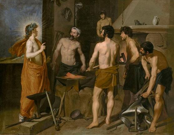 Аполлон в кузнице Вулкана - самые известные картины Веласкеса