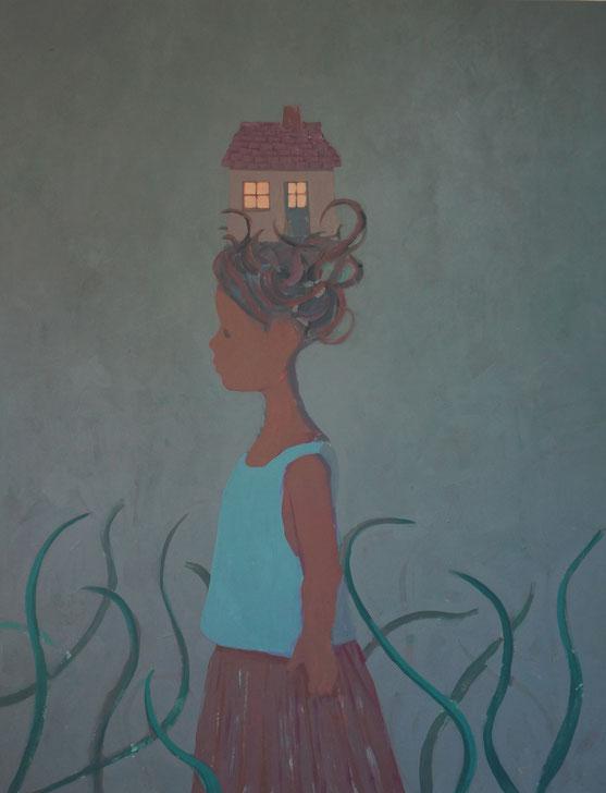 sophie's house - Acryl auf Leinwand, 130x100cm, 2014