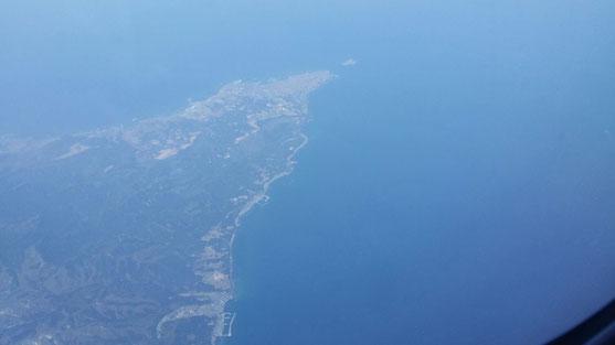 3月17日は天気が凄い良くて、飛行機から青森の先端がしっかりと見えました♪