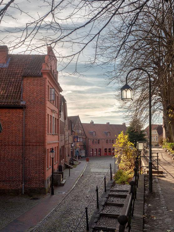 Blick vom Kirchberg auf die Häuser am Marktplatz