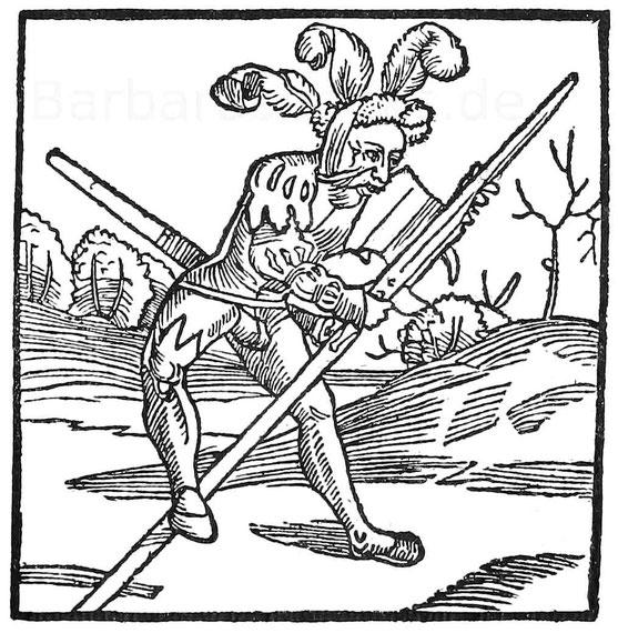 Der Eysenbeysser. Holzschnitt aus Murner, Schelmenzunft. Straßburg 1512.