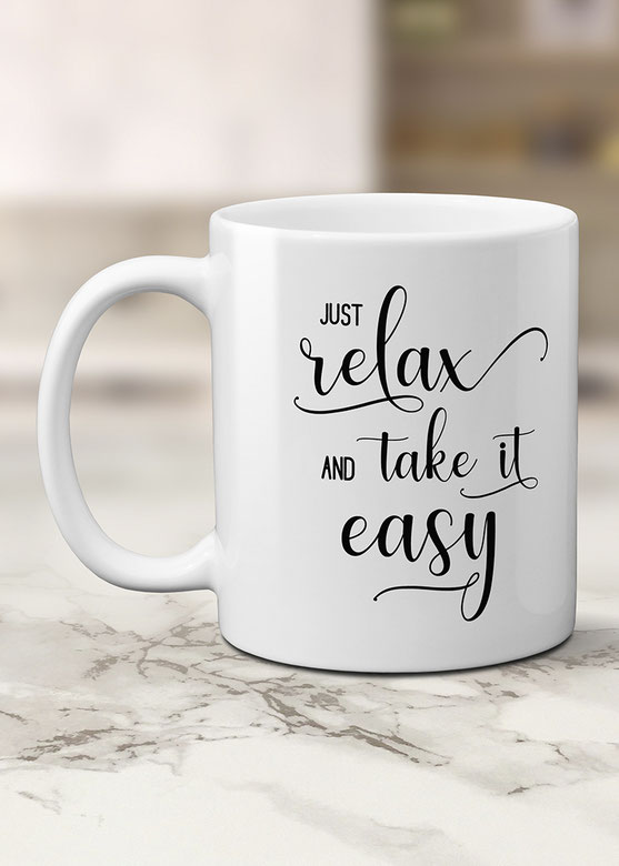 Tasse mit Spruch Wohnen & Leben