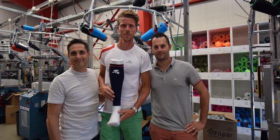 Philippe Chardigny (à gauche) avec un athlète BV Sport - Photo BV Sport