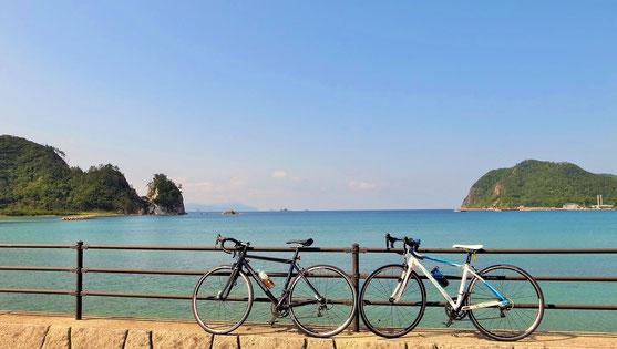 隠岐 都万シオノハマ 自転車
