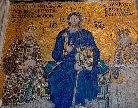 Christus mit Kaiser u. Kaiserin