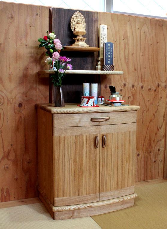 オープンスタイルの明るいお仏壇(鎌倉市・N様邸)完成