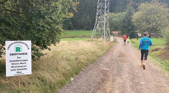 Bis circa Kilometer 50 konnte ich mit Bernd mithalten und er war ein super Pacer und Laufpartner. Leider zwang mich eine Pause im Wald ihn ziehen lassen zu müssen.