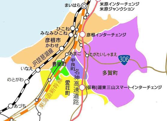 湖東エリア地図