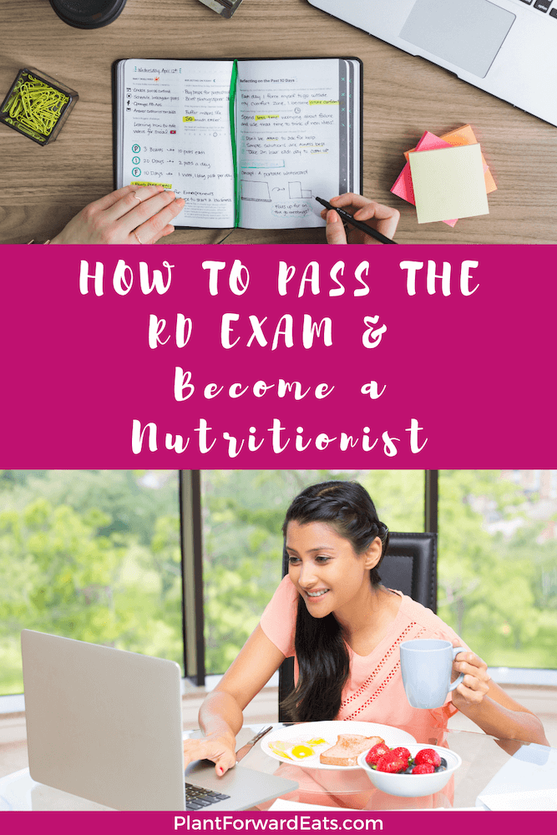 How to study for the RD exam? How hard is the registered dietitian exam? If you're wondering about test prep for the RD test, use my best tips and prep suggestions for becoming a dietitian! #RDexam #studying #nutritionist #RD2Be