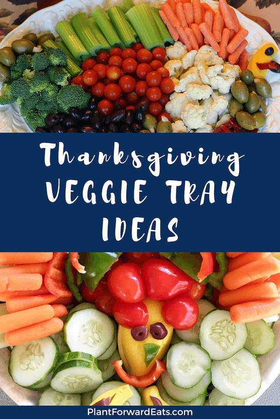 Looking for healthy Thanksgiving vegetable side dishes? These Thanksgiving veggie tray ideas are the star of the show! Whip up one of these turkey veggie tray ideas today. #thanksgiving #veggietray #turkeytray #turkey #appetizer #vegetables #vegetarian