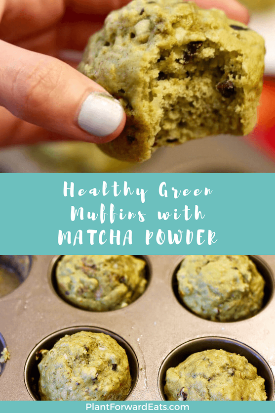 Learn how to use matcha powder, and awaken your day with this matcha muffin recipe! Baking with matcha is easy with these healthy green muffins featuring banana and maple syrup. #healthymuffins #matcharecipe #healthyrecipe #caffeine #greenmuffins