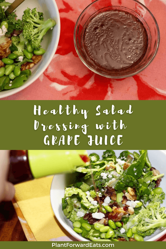 Here's how to make healthy salad dressing. Make this homemade and healthy salad dressing DIY recipe to try! This Grape Vinaigrette Salad Dressing is so easy to whip up.