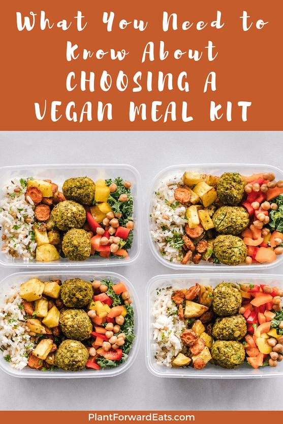 Interested in vegan meal prep? Need vegan meal ideas? Find out about vegan meal kits & vegan meal delivery services. #mealkit #vegan #mealkits #mealdelivery #healthyeating #nutrition #mealprep #plantbased #vegetarian #weightloss