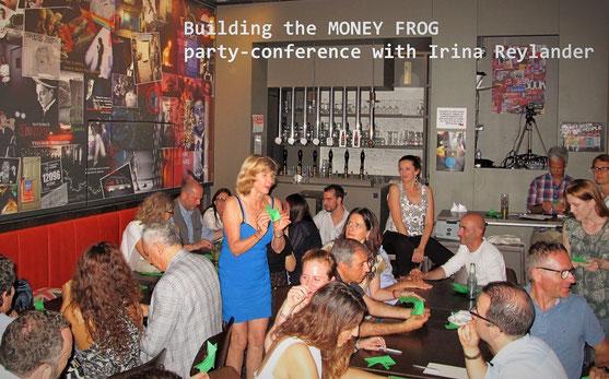 Geld anziehen mit einem Origami Motivationsevent mit Irina Reylander Moneyfrog