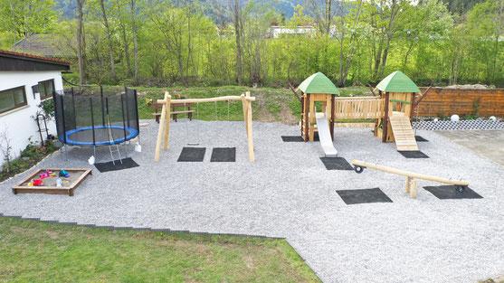Spielplatz auf dem Campingplatz Pfronten
