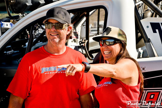 Nicole Pitell-Vaughan (a sinistra) con il marito Matt Vaughan