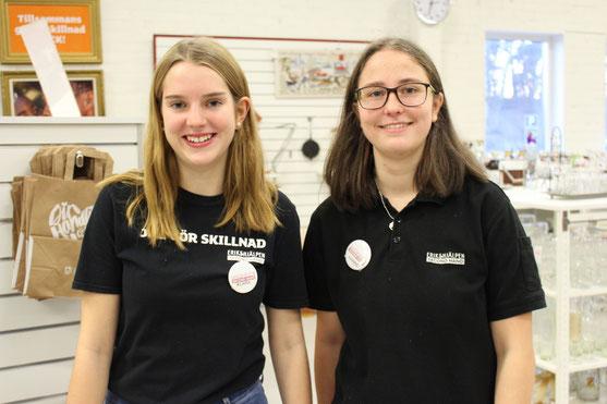 v.l. Klara Santel und Hanne Reimann bei der Arbeit im Eriksjhälpen.