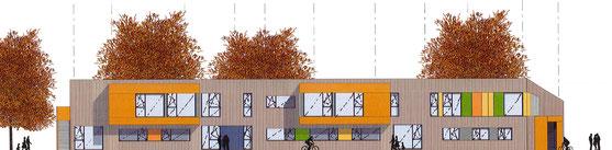 Architekturentwurf der Kitas Samuil Marschak und Zwergenland, Greifswald