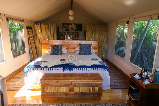 Luxuszelt im Pelo Camp