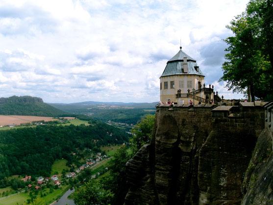 So sieht de Sächsische Schweiz aus: Blick von der Festung Königstein