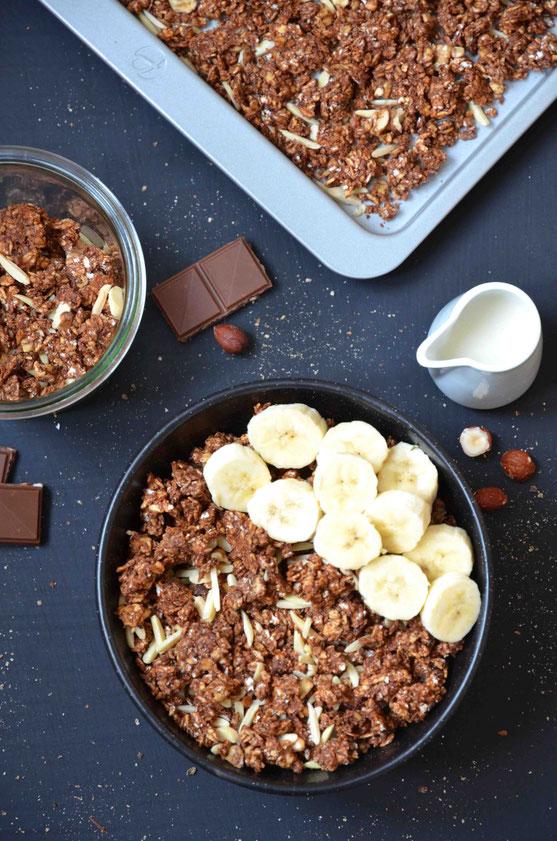 Schokoladen-Granola (vegan)