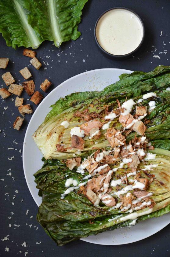 Gegrillter Salat Caesar´s Style (vegan)